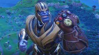 Fortnite Battle Royal Thanos + Bush = WTF