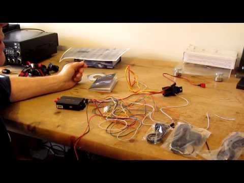 GPS Car Tracker with GPRS and Vehicle Theft Protection System unboxing and use