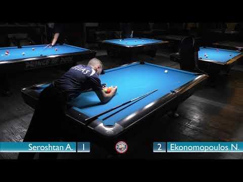 Nick Ekonomopoulos - Andrey Seroshtan | Lamia Open 9-BALL 2017