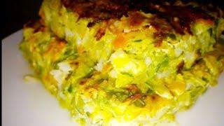 Pastel o sufle de zapallitos Italiano (plato frio o caliente)