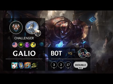 Galio Bot vs Caitlyn - NA Challenger Patch 10.18