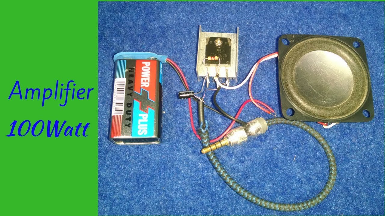Make Mini Amplifier 100watt With 2sc 2625 Transistor Input 9 Volt This Is A Simple Audio Preamplifier Circuit Using Single Homemade New Project 2018