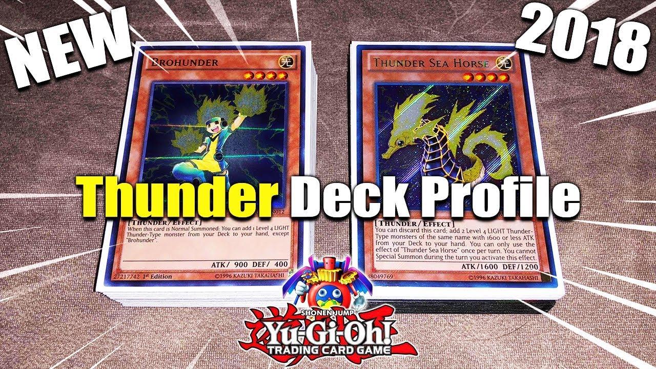 New Yu Gi Oh! Crazy Deck Idea! Thunder Deck Profile July 2018