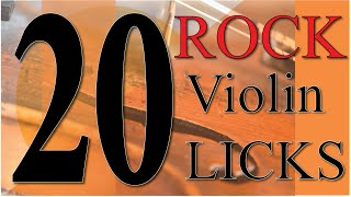 20 rock violin licks