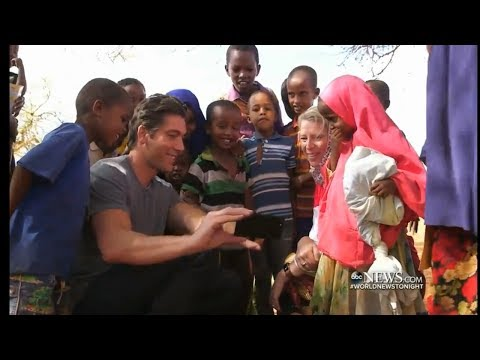DAVID MUIR with Save the Children, Famine in Africa, May 2017