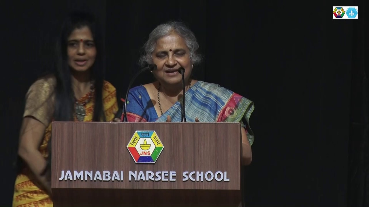 Mrs  Sudha Murty at Jamnabai Narsee Campus
