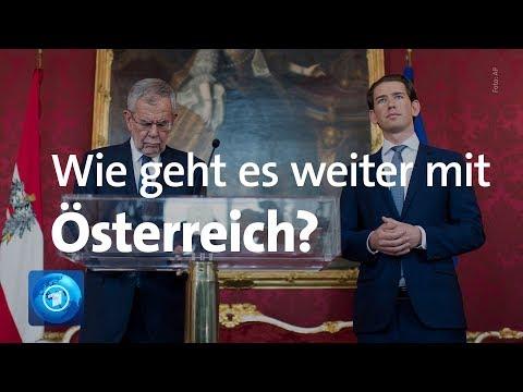 Wie geht es weiter in Österreich? Pressekonferenz von Kurz und Van der Bellen