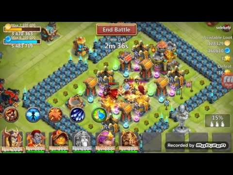 Castle Clash Warlock 10/10 And 8/8 War God. With 3 Lvl Bulwark Crest, Without Crest And With Cp Proc