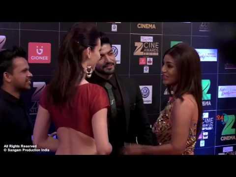 Hot Girl Claudia Ciesla Showing Assets at Red Carpet of Zee Cine Awards 2017