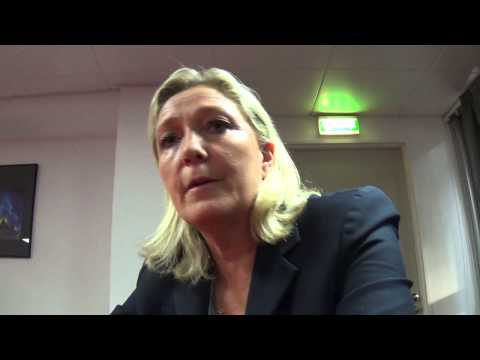 Marine Le Pen,Bilan des 1 an d'action de la délégation française du MENL  itw Nicolas Caudeville poster