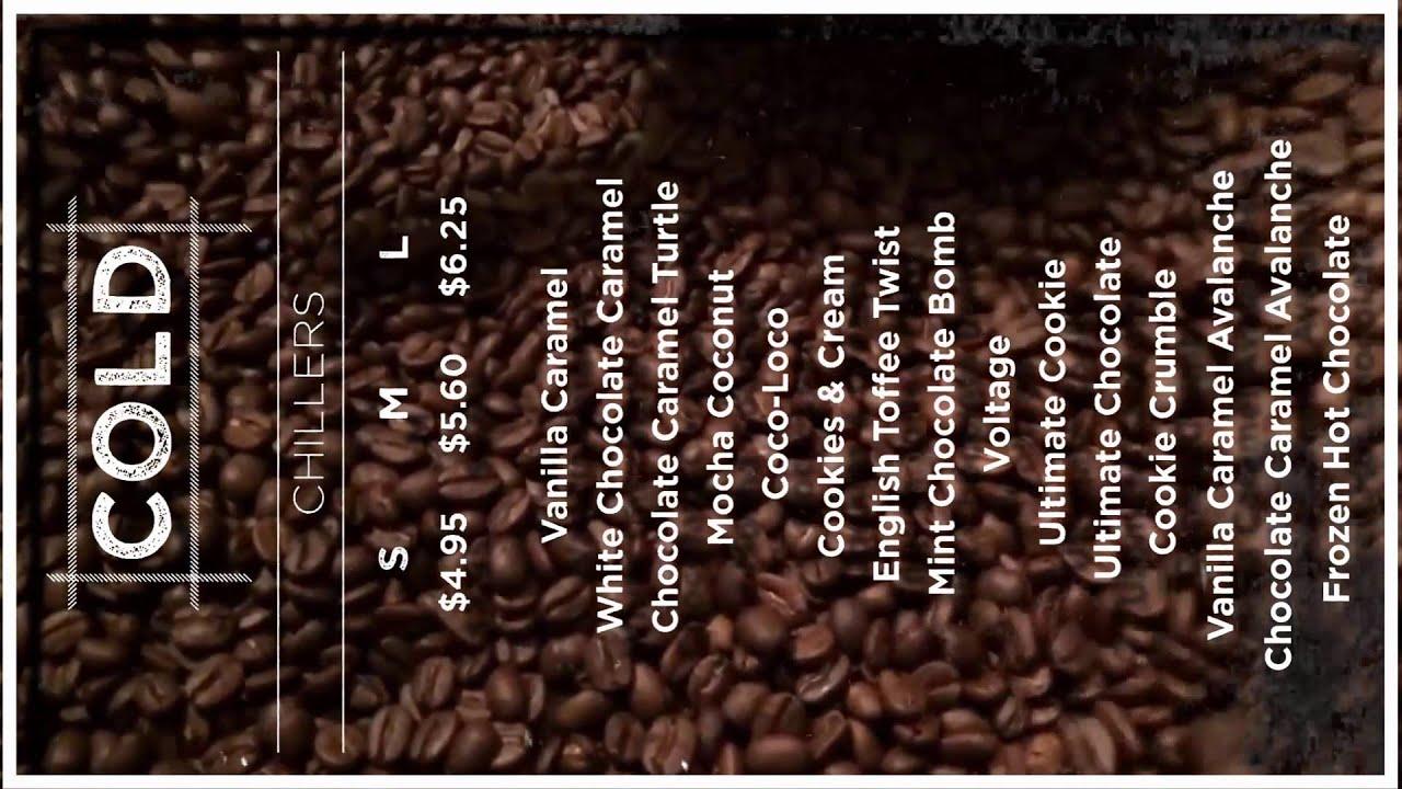 New Gloria Jean's Coffee Digital Menu Board - YouTube