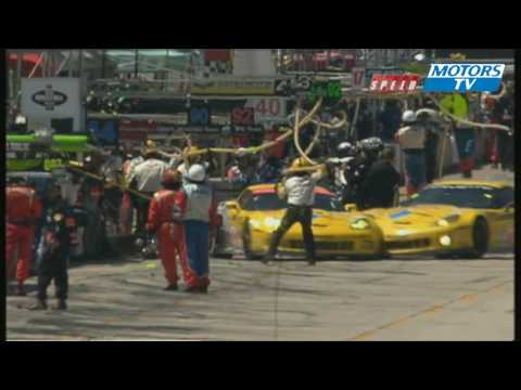 ALMS 12 Hours Sebring Two Corvette Crash In The Pits 2010 Motorsport Tv Global