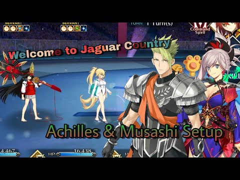 [FGO NA] Battle in New York 2020: Welcome to Jaguar Country - Achilles & Musashi Setup