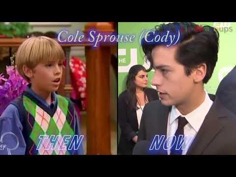 """Все актёры сериала ,,Всё тип-топ или жизнь Зака и Коди""""Тогда и сейчас."""