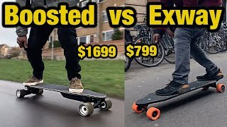 Which is better Boosted Stealth vs Exway X1 Electric skateboard DETAILED comparison review