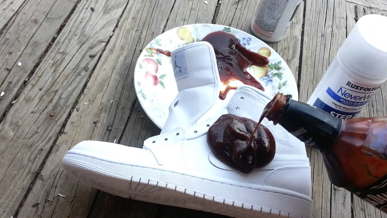 Neverwet On White Shoes