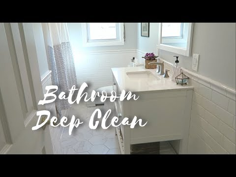 BATHROOM DEEP CLEAN ROUTINE 🛁✨