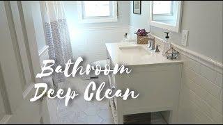BATHROOM DEEP CLEAN ROUTINE 🛁✨
