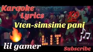 Vten-Simsime Pani ma (Official Karaoke and lyrics)