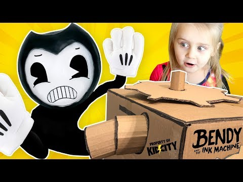 Save Little Flash from BENDY's INK MACHINE! (Hide and Seek Family Game) KIDCITY