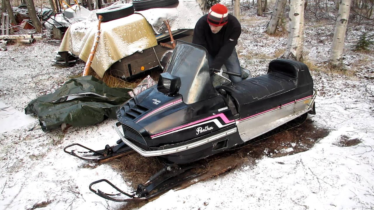 how to start a submerged snowmobile