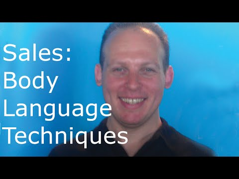 Body language techniques to use during sales when talking to potential clients - 동영상