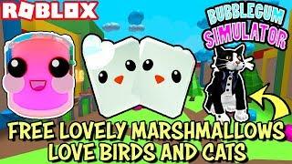 🔴 ROBLOX LIVE 🔴 GIVING AWAY FREE LOVELY MARSHMALLOWS, LOVE BIRDS, TUXEDO CAT - BUBBLEGUM SIMULATOR