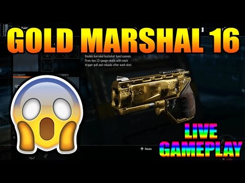 "BLACK OPS 3 ""GOLD MARSHAL 16 GAMEPLAY"" LIVE! (COD BO3 GOLD MARSHAL 16 GAMEPLAY)"