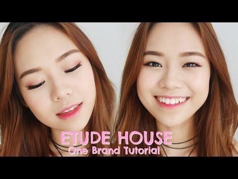 Etude House One Brand Makeup Tutorial & Review   Indo sub   Molita Lin