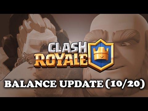 Clash Royale | Balance Update (10/20) | Giant & Poison Nerf