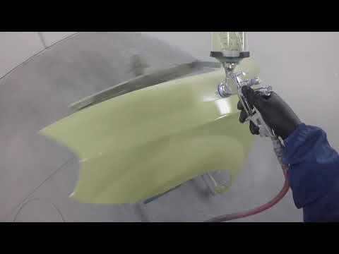 spraying epoxy primer