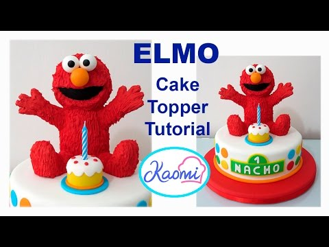 How to make Elmo Cake Topper Cmo hacer a Elmo para tortas YouTube