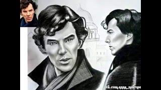 Портрет. Шерлок Холмс (Бенедикт Кембербетч). от Annet_Portret. drawing Benedict Cumberbatch