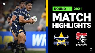 Cowboys v Knights Match Highlights   Round 11, 2021   Telstra Premiership   NRL