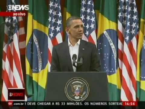 Barack Obama speaking in Portuguese Brazilian