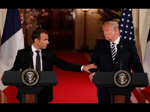 Macron lobbies Trump to keep and improve Iran nuclear deal as 'only way to bring about stability'