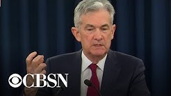 Fed chairman Jay Powell speaks on interest rate hike