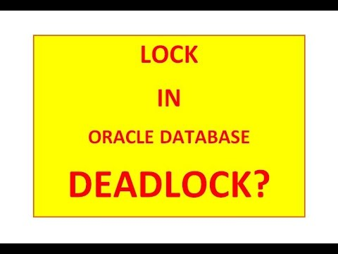 Deadlock? in oracle database
