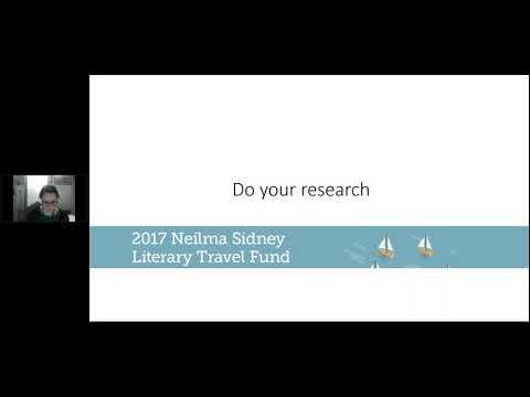 Neilma Sidney Literary Travel Fund Q&A
