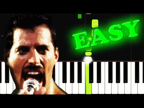 QUEEN - WE ARE THE CHAMPIONS - Easy Piano Tutorial