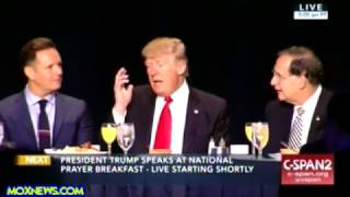 President Trump Speaks At National Prayer Breakfast