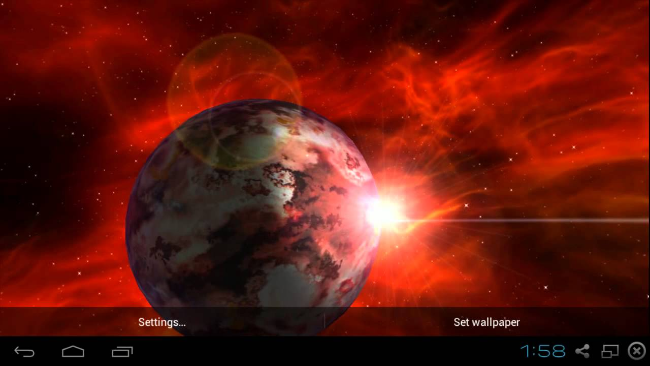 Alien Planet Pink Red Live Wallpaper 3D Android