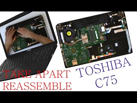 Toshiba C75 Take Apart and Reassemble (Nothing Left) HD Video