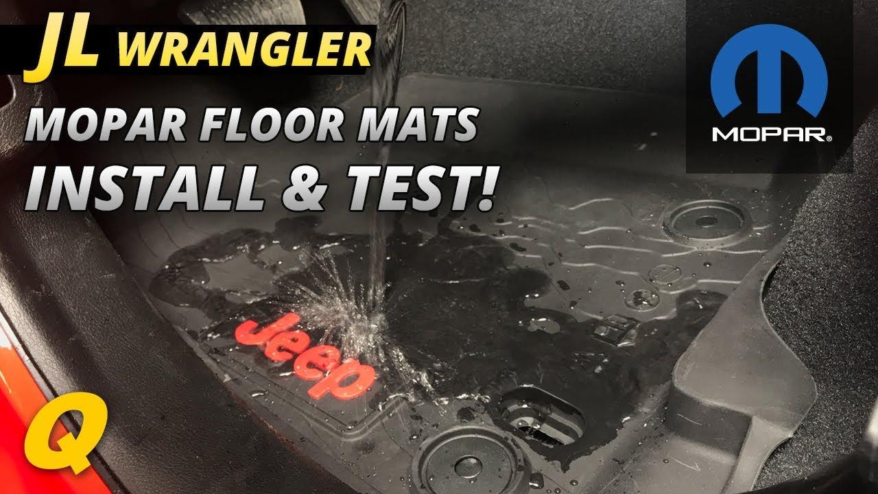 Mopar Jeep Wrangler Jl All Weather Foor Mat Install And