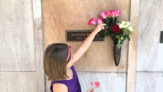 The Cemetery Kid visits the grave of MARILYN MONROE