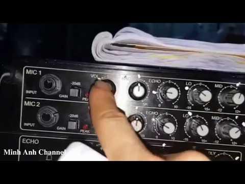 Hướng dẫn chỉnh Âmply để hát karaoke chuẩn nhất