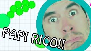 TU PAPI RICO SE LOS COME A TODOS!!!! | AGAR.IO - JuegaGerman