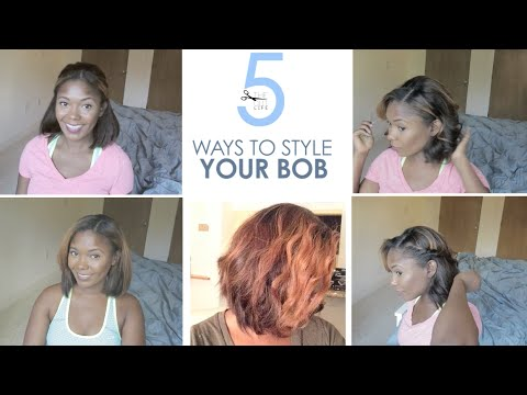 how to style hair into a bob how to 5 easy ways to style your bob hairstyle tutorial 4987