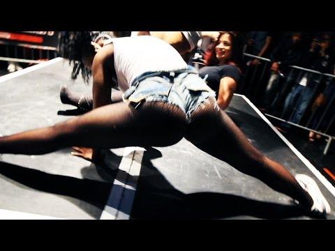 Twerking Girl In Fishnet Tights
