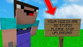 RECORDING A VIDEO WITH MY BIGGEST HATER ON MINECRAFT...
